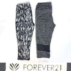 2pc yoga workout athletic legging capris FOREVER21